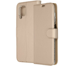 Accezz Accezz Wallet Softcase Booktype Samsung Galaxy A12 - Goud (D)
