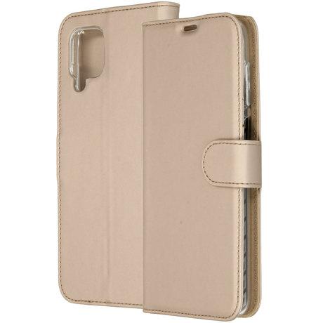 Accezz Wallet Softcase Booktype Samsung Galaxy A12 - Goud (D)