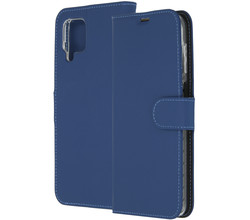Accezz Accezz Wallet Softcase Booktype Samsung Galaxy A12 - Donkerblauw (D)