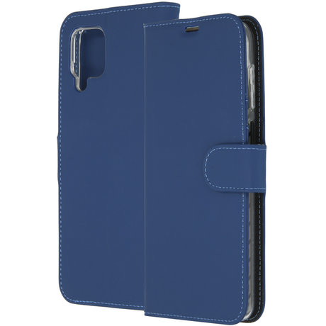Accezz Wallet Softcase Booktype Samsung Galaxy A12 - Donkerblauw (D)