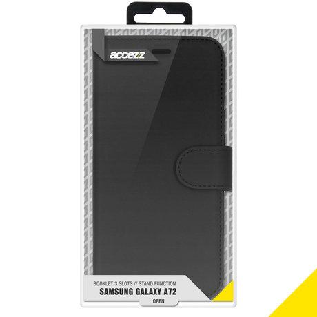 Accezz Wallet Softcase Booktype Samsung Galaxy A72 - Zwart (D)