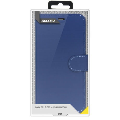 Accezz Wallet Softcase Booktype Samsung Galaxy A72 - Donkerblauw (D)