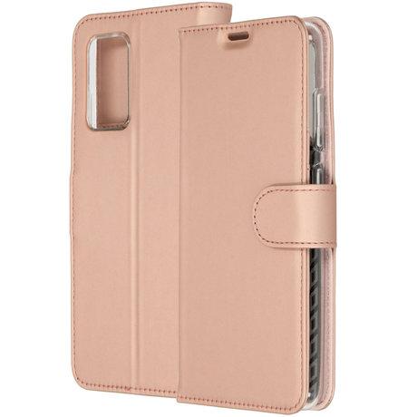 Accezz Wallet Softcase Booktype Samsung Galaxy A72 - Rosé Goud (D)