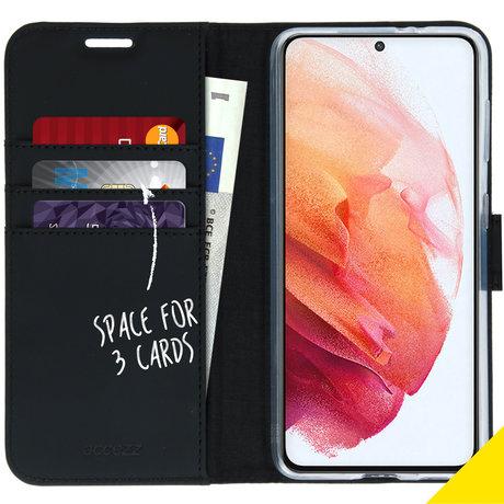 Accezz Wallet Softcase Booktype Samsung Galaxy S21 - Zwart (D)