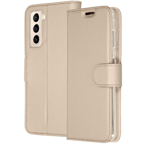 Accezz Wallet Softcase Booktype Samsung Galaxy S21 - Goud (D)