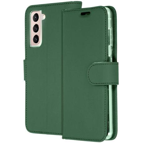 Accezz Wallet Softcase Booktype Samsung Galaxy S21 - Groen (D)