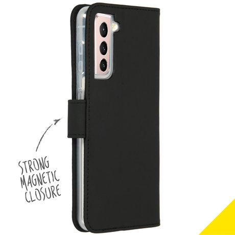 Accezz Wallet Softcase Booktype Samsung Galaxy S21 Plus - Zwart (D)