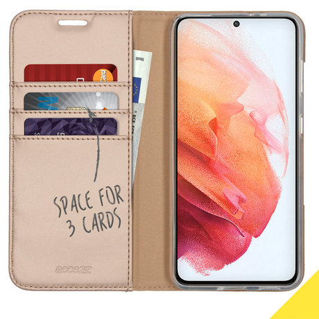 Accezz Wallet Softcase Booktype Galaxy S21 Plus - Goud (D)