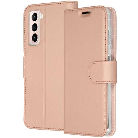 Accezz Wallet Softcase Booktype Galaxy S21 Plus - Rosé Goud (D)
