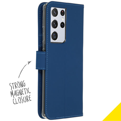 Accezz Wallet Softcase Booktype Galaxy S21 Ultra - Donkerblauw (D)
