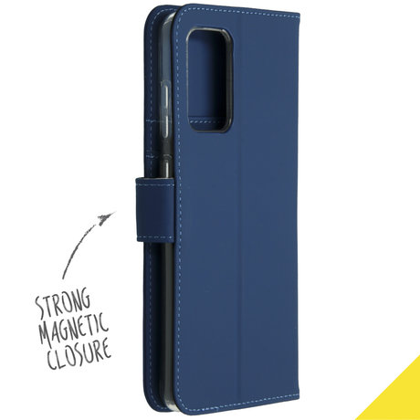 Accezz Wallet Softcase Booktype Galaxy A52(s) (5G/4G) - Donkerblauw (D)
