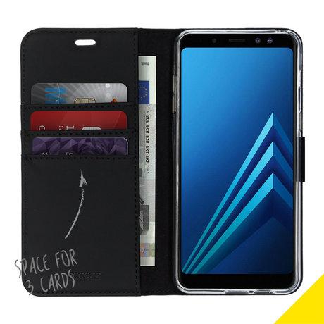 Accezz Wallet Softcase Booktype Samsung Galaxy A8 (2018) (D)