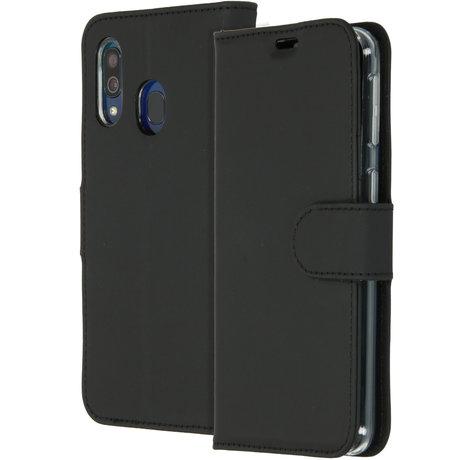 Accezz Wallet Softcase Booktype Samsung Galaxy A40 - Zwart (D)