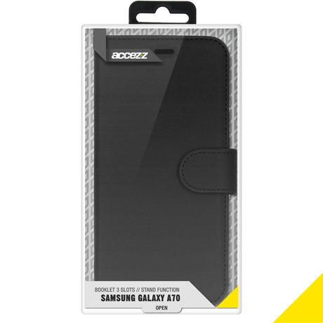 Accezz Wallet Softcase Booktype Samsung Galaxy A70 - Zwart (D)