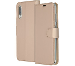 Accezz Accezz Wallet Softcase Booktype Samsung Galaxy A70 - Goud (D)
