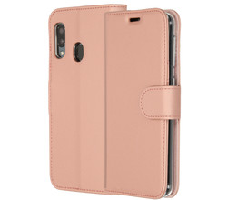 Accezz Accezz Wallet Softcase Booktype Samsung Galaxy A20e - Rosé Goud (D)