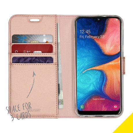 Accezz Wallet Softcase Booktype Samsung Galaxy A20e - Rosé Goud (D)