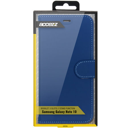 Accezz Wallet Softcase Booktype Samsung Galaxy Note 10 - Blauw (D)