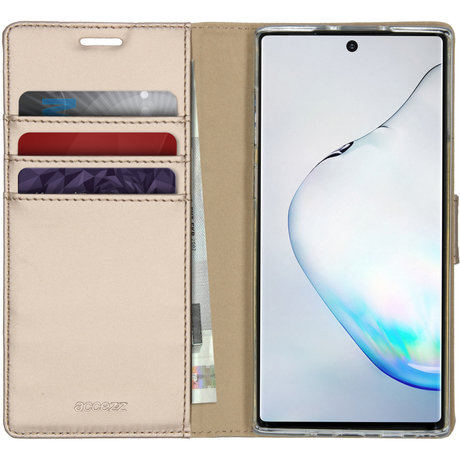 Accezz Wallet Softcase Booktype Samsung Galaxy Note 10 - Goud (D)