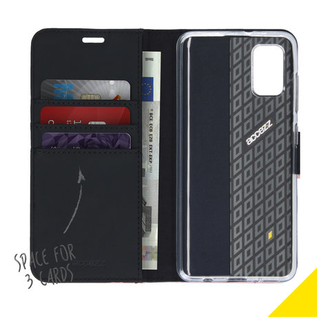 Accezz Wallet Softcase Booktype Samsung Galaxy A41 - Zwart (D)