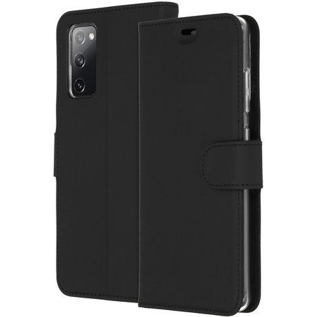 Accezz Wallet Softcase Booktype Samsung Galaxy S20 FE - Zwart (D)