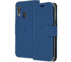 Accezz Accezz Wallet Softcase Booktype Samsung Galaxy A20e - Donkerblauw (D)