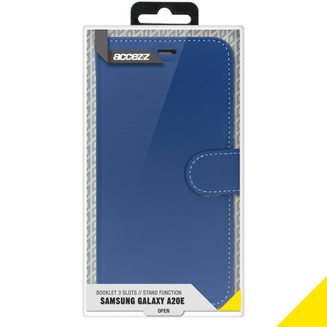 Accezz Wallet Softcase Booktype Samsung Galaxy A20e - Donkerblauw (D)