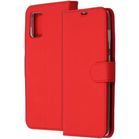 Accezz Wallet Softcase Booktype Samsung Galaxy A71 - Rood (D)