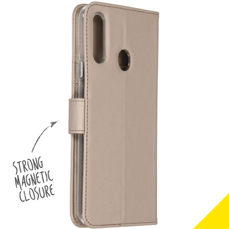 Accezz Wallet Softcase Booktype Samsung Galaxy A20s - Goud (D)