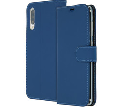 Accezz Accezz Wallet Softcase Booktype Samsung Galaxy A70 - Donkerblauw (D)