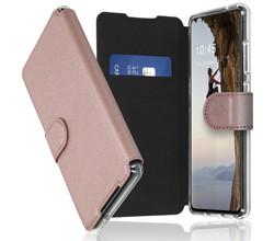 Accezz Accezz Xtreme Wallet Booktype Samsung Galaxy S21 FE - Rosé Goud (D)