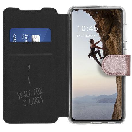 Accezz Xtreme Wallet Booktype Samsung Galaxy S21 FE - Rosé Goud (D)