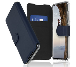 Accezz Accezz Xtreme Wallet Booktype Samsung Galaxy S21 FE - Donkerblauw (D)