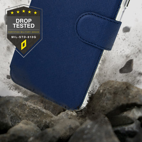 Accezz Xtreme Wallet Booktype Samsung Galaxy S21 FE - Donkerblauw (D)