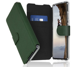 Accezz Accezz Xtreme Wallet Booktype Samsung Galaxy S21 FE - Donkergroen (D)