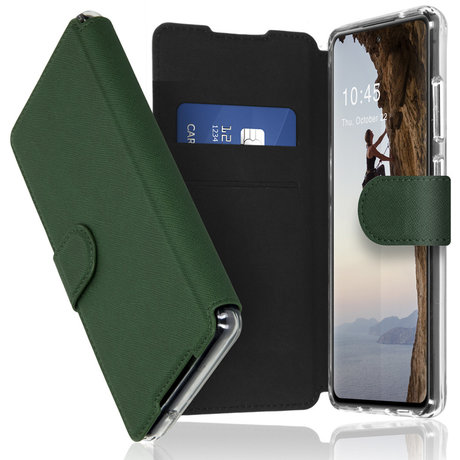 Accezz Xtreme Wallet Booktype Samsung Galaxy S21 FE - Donkergroen (D)