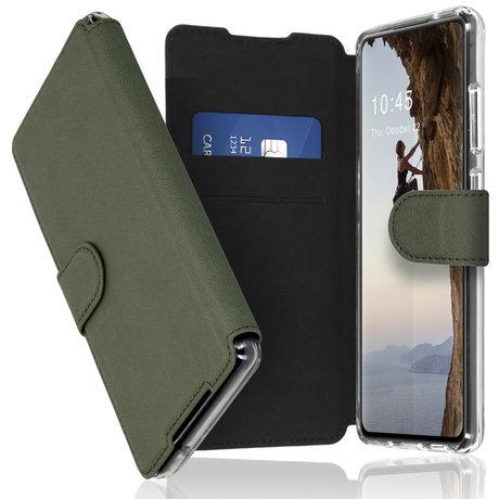 Accezz Xtreme Wallet Booktype Samsung Galaxy S21 FE - Lichtgroen (D)