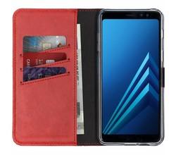 Selencia Selencia Echt Lederen Booktype Samsung Galaxy A8 (2018) (D)