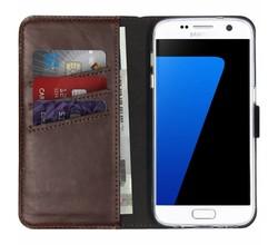 Selencia Selencia Echt Lederen Booktype Samsung Galaxy S7 (D)