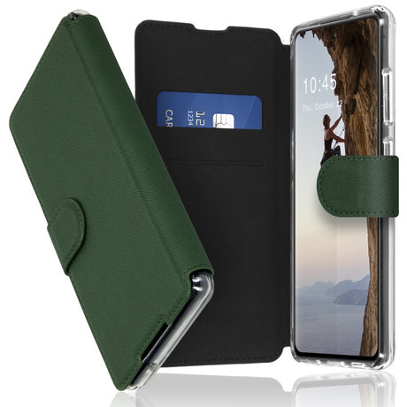 Accezz Xtreme Wallet Booktype Samsung Galaxy S21 - Donkergroen (D)