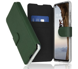 Accezz Accezz Xtreme Wallet Booktype Samsung Galaxy A21s - Donkergroen (D)