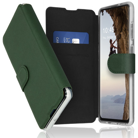 Accezz Xtreme Wallet Booktype Samsung Galaxy A21s - Donkergroen (D)