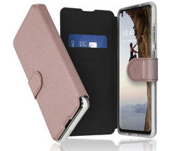 Accezz Accezz Xtreme Wallet Booktype Samsung Galaxy A21s - Rosé Goud (D)