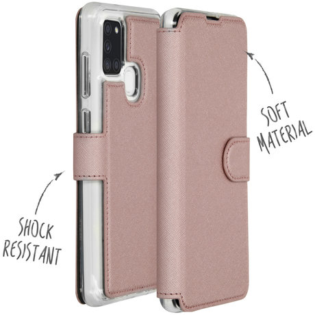 Accezz Xtreme Wallet Booktype Samsung Galaxy A21s - Rosé Goud (D)