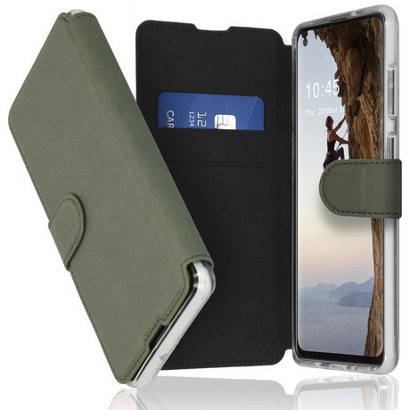 Accezz Xtreme Wallet Booktype Samsung Galaxy A21s - Lichtgroen (D)