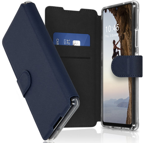 Accezz Xtreme Wallet Booktype Samsung Galaxy A42 - Donkerblauw (D)