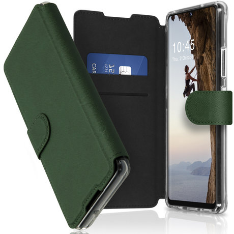 Accezz Xtreme Wallet Booktype Samsung Galaxy A42 - Donkergroen (D)