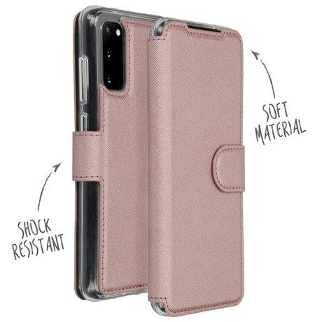 Accezz Xtreme Wallet Booktype Samsung Galaxy S20 - Rosé Goud (D)