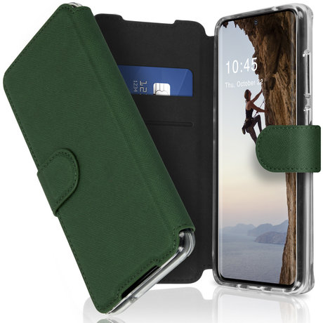 Accezz Xtreme Wallet Booktype Samsung Galaxy S20 - Donkergroen (D)