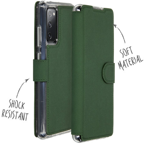 Accezz Xtreme Wallet Booktype Samsung Galaxy S20 FE - Donkergroen (D)